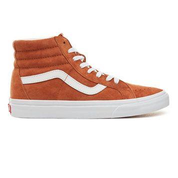 Chaussures Vans Sneakers Sk8 Hi Femme Orange Sortie France