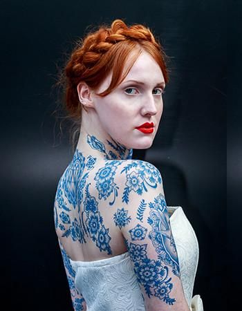 Delft Birds And Flowers Set 01 Sk In K Blue Tattoo