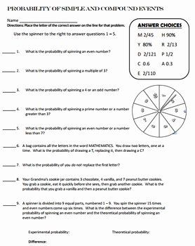 Simple Probability Worksheet Pdf New Probability Simple And Pound Events Self Checking By Probability Worksheets Word Problem Worksheets Simple Probability