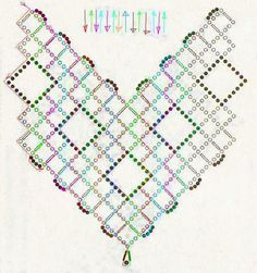 Free pattern schema for necklace Beaded Squares