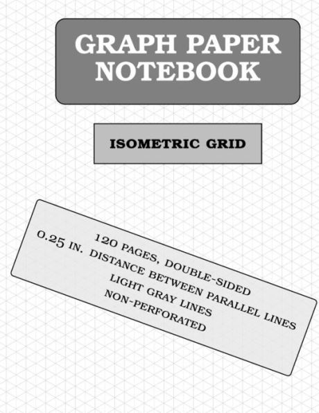Isometric Graph Paper Notebook  Pages  Inch Distance