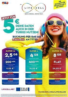 Ebay Sponsored Lifecell Turkei Internet 8 Gb Daten Fur Die Turkei
