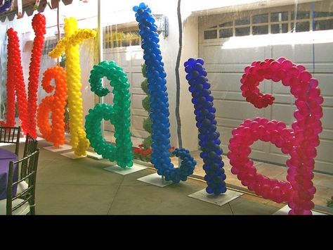 Colorful Balloon Letters..terrific shape & sizing