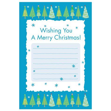イラスト付き 雪降る森のクリスマス1 ふちなし印刷向け