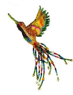 These beaded hummingbirds are gorgeous!!