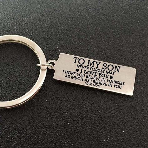 Great Gifts Keychain To My Son   Family Gift Love – Family Love Gifts