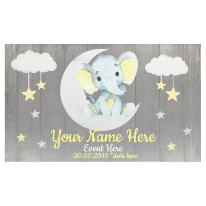 Elephant in the Sea Baby Shower Personalized Banner