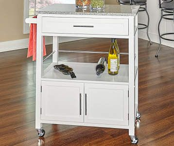 Gray Steel Top Kitchen Cart With Drawers Big Lots Kitchen Cart