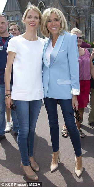 Emmanuel Macron S Glamorous Wife Brigitte Votes With Her Daughter French First Lady Corporate Fashion Fall Fashion Outfits