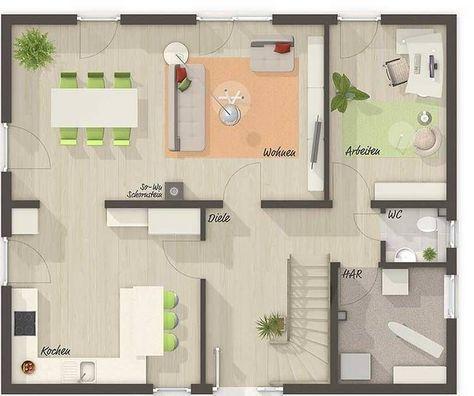 An der Küche keinen Tresen Wohnfl che Erdgeschoss Grundriss - tresen für küche