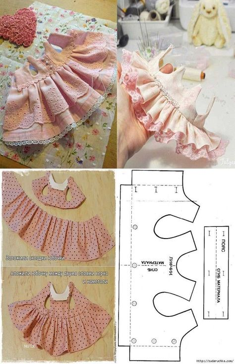 baby doll clothes patron para hacer un ve - clothes Sewing Doll Clothes, Baby Doll Clothes, Sewing Dolls, Pet Clothes, Barbie Clothes, Baby Dress Patterns, Dog Clothes Patterns, Doll Patterns, Sewing Patterns
