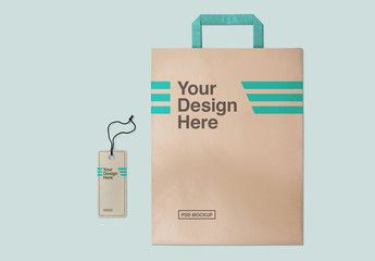Download Paper Shopping Bag And Label Mockup Sponsored Shopping Paper Bag Mockup Label Ad Paper Shopping Bag Pharmacy Design Infographic Design Layout