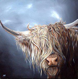 Highland Cow Painting Highland Cow Isle Of Mull By Aaron De La Haye Highland Cow Painting Highland Cow Art Cow Painting