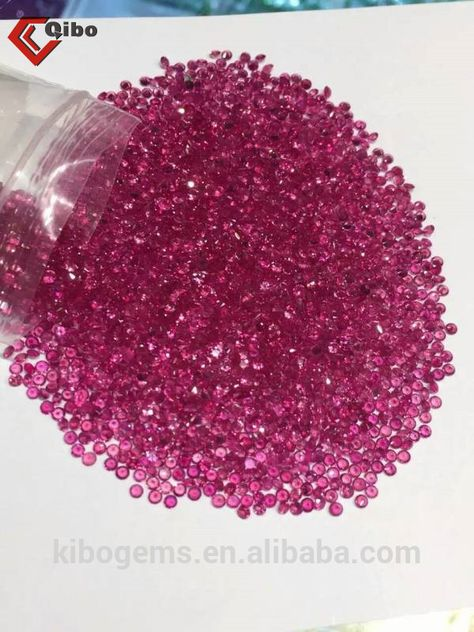 """AAA NATURAL 6 mm Faceted BRAZIL Red Ruby Gemstones Loose Beads 15/"""" +"""
