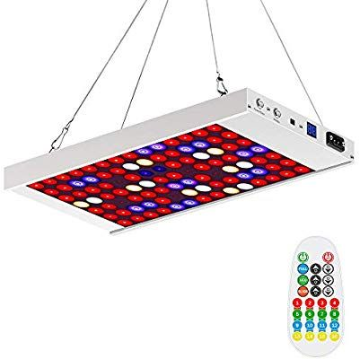 Mzvul Led Grow Light 150w Full Spectrum Indoor Plant Light 3 Modes With Timer Settings Dimmable Remote Co Indoor Plant Lights Led Grow Lights Plant Lighting