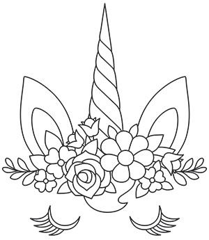 Enchanting Unicorn Face Urban Threads Unique And Awesome Embroidery Designs Unicorn Coloring Pages Unicorn Drawing Paper Embroidery