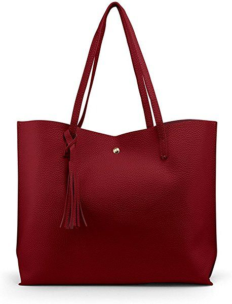 2aed0e55d66 Amazon.com: OCT17 Women Tote Bag - Tassels Faux Leather Shoulder ...