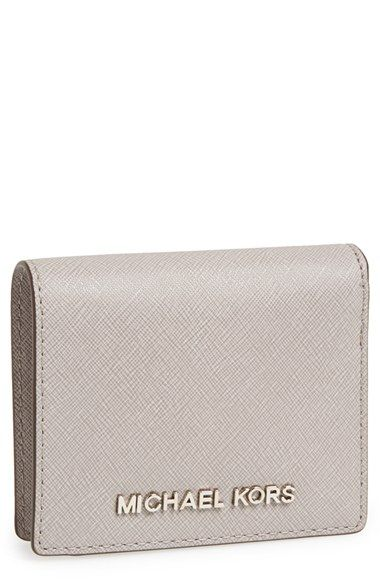 a921534678e5 Free shipping and returns on MICHAEL Michael Kors  Jet Set  Saffiano Leather  Card Holder at Nordstrom.com. Silvertone logo hardware and richly textured  ...