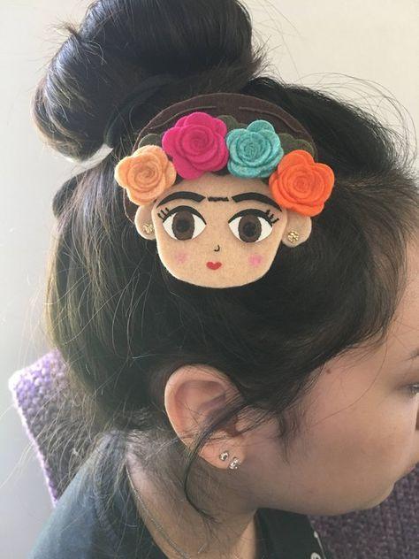 Frida Hair Clip   Frida Kahlo   Frida   Hair Clip   Fiesta Hair Clip