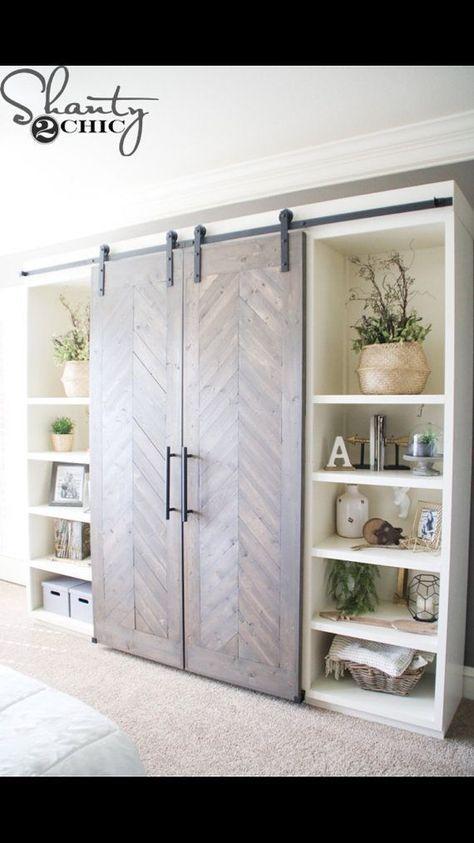43 Ideas For Living Room Tv Wall Decor Ideas Barn Doors Diy Living Room Decor Barn Door Console Diy Sliding Barn Door