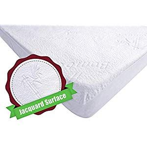 Waterproof Bamboo Jacquard Mattress Topper Protector Cover Pad Hypoallergenic