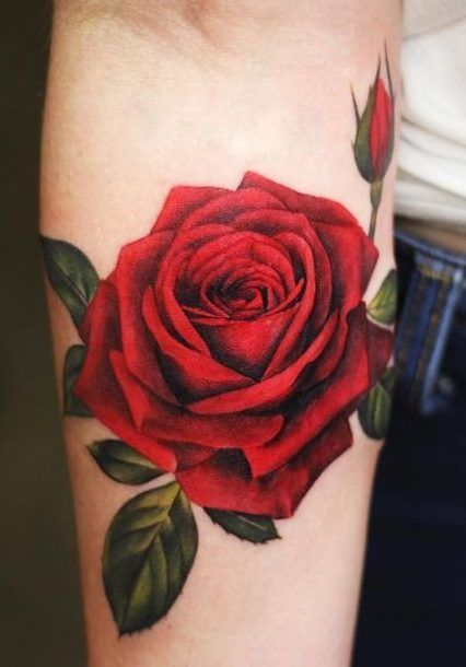21 Trendy Tattoo Rose Realistic Red Rose Tattoos For Men Realistic Rose Tattoo Simple Tattoo Designs