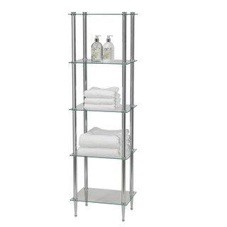 Creative Ware Home L Etagere 5 Shelf Tower Kohls Creative Bath Shelves Tempered Glass Shelves