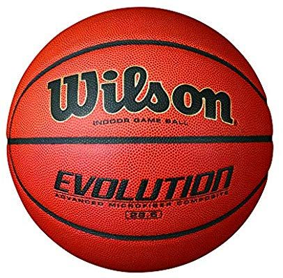 Amazon Com Wilson Evolution Indoor Game Basketball Official 29 5 Black Sports Outdoors Wilson Basketball Basketball Workouts Basketball