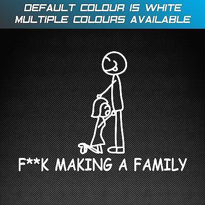 F K Making A Family Funny Car Sticker Decal Anti Stick Figure