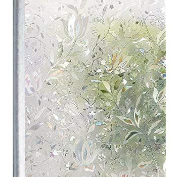 Homein 3d Fensterfolie Selbsthaftend Klebefolie Fensterbilder Fenster Sichtschutzfolie Bunt Glasfolie Fensterfolie Folie Fur Fenster Folie Fenster Sichtschutz