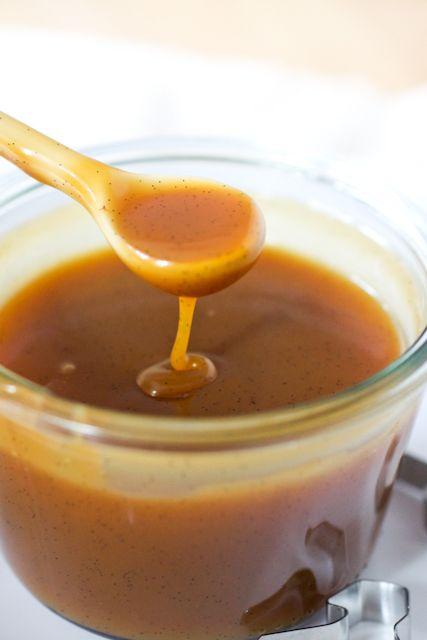 Can always use a good caramel sauce....  Vanilla Bean Caramel Sauce