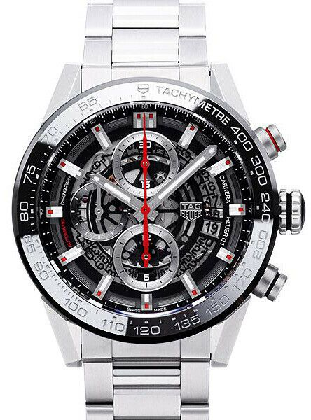 Tag Heuer Carrera Skeleton Black Dial Men's Chronograph Watch CAR201V.BA0714