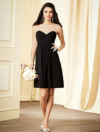 Strapless bridesmaid dress with sweetheart neckline by Alfred Angelo, Style 7289S