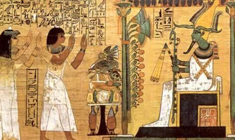 Afterlife Judging By Osiris And Ma At The Scale Weighed A