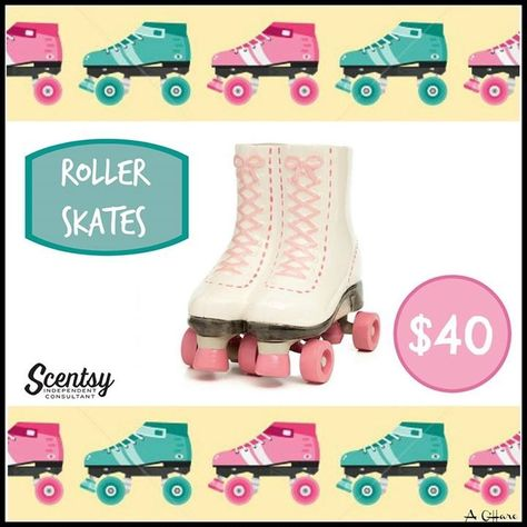 """Scentsy """"Roller Skates"""" Wax Warmer NEW for fall and winter 2016 #scentsbykris"""