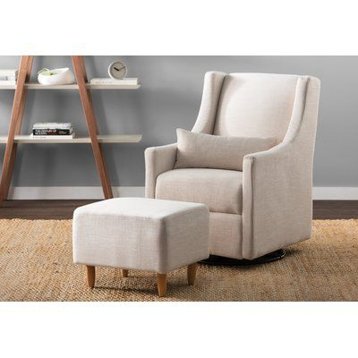 Admirable Carters By Davinci Adrian Swivel Glider In Cream With Ottoman Pabps2019 Chair Design Images Pabps2019Com