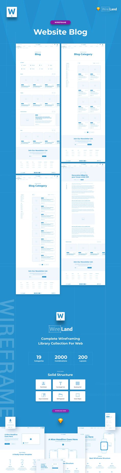 Blog Design - Wireframe Website Layout