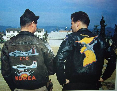 - Examples of Korean War painted jackets.