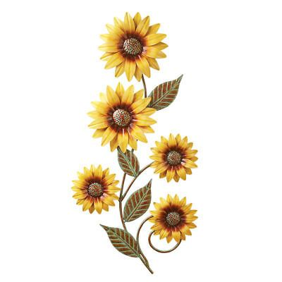Metal Sunflower Wall Decor Country Harvest Autumn