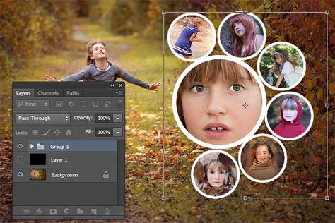 hur gör man collage i photoshop