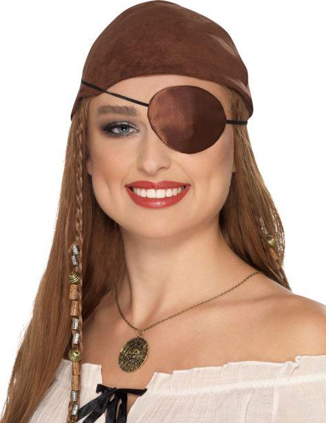 Tapa-olho pirata castanho adulto  Este tapa-olho de pirata é para adulto  (só o tapa-olho é incluido). Ele é recoberto de tecido castanho acetinado e  ... 9c8b4052db2