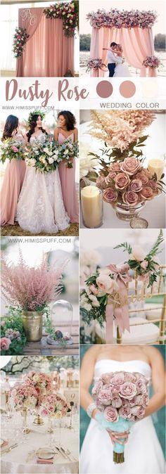 dusty rose wedding color ideas #weddings #weddingcolors #wedding #pinkweddings #weddingcolorpalette #himisspuff