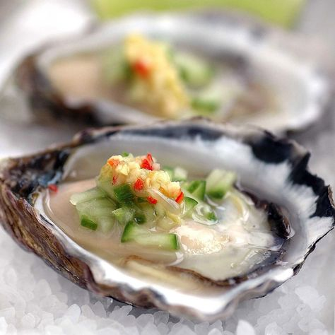 Chilli, Lime and Gin Marinated Oysters