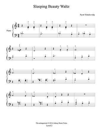 Sleeping Beauty Waltz Level 2 Piano Sheet Music Sheet Music