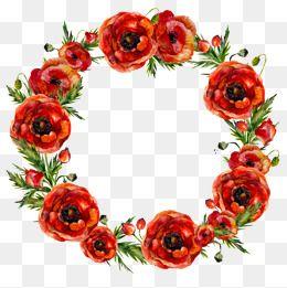 Corona De Flores Clipart De Flor Flores Acuarela Fondos De Flores