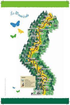 Frankreich Voie Verte Trans Ardenne Radwege Fahrradroute Und