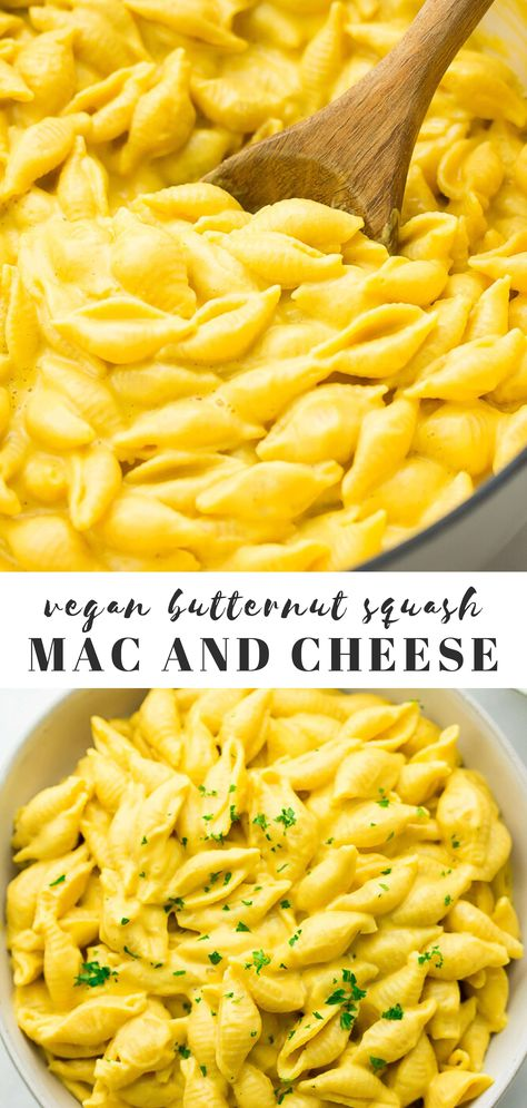 Kids and adults alike will swoon for this Butternut Squash Mac and Cheese! Completely vegan with a gluten free option. #vegan #dairyfree