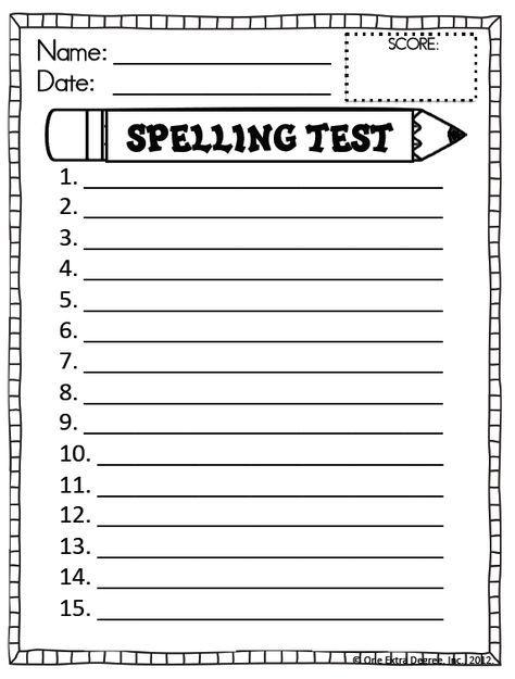 Pin On Spelling Free printable spelling worksheets for