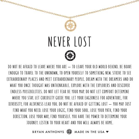 Never Lost Necklace 14K Gold