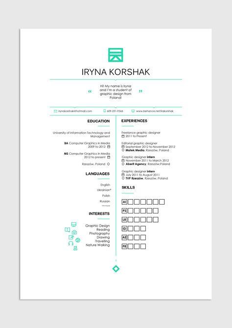 40 Creative CV Resume Designs Inspiration 2014 Web design blog - is a cv a resume